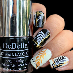 Gold and Black nail art design inspiration