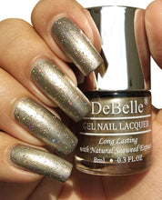 Load image into Gallery viewer, DeBelle Gel Nail Lacquer Metallic Rust Gold - Rustique Gold (8ml)