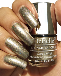 DeBelle Gel Nail Lacquer Metallic Rust Gold - Rustique Gold (8ml)