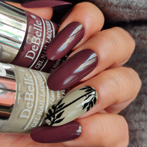 DeBelle Gel Nail Lacquer Plum Toffee - Burgundy