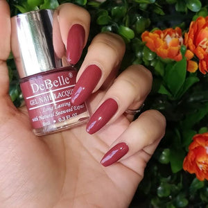 DeBelle Gel Nail Lacquer Pastel Burgundy -  Scarlet Ruby (8ml)