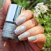 Load image into Gallery viewer, Silver black glitter nail polish shade india