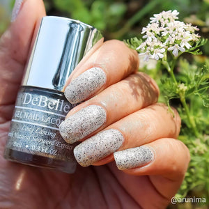 Silver black glitter nail polish shade india