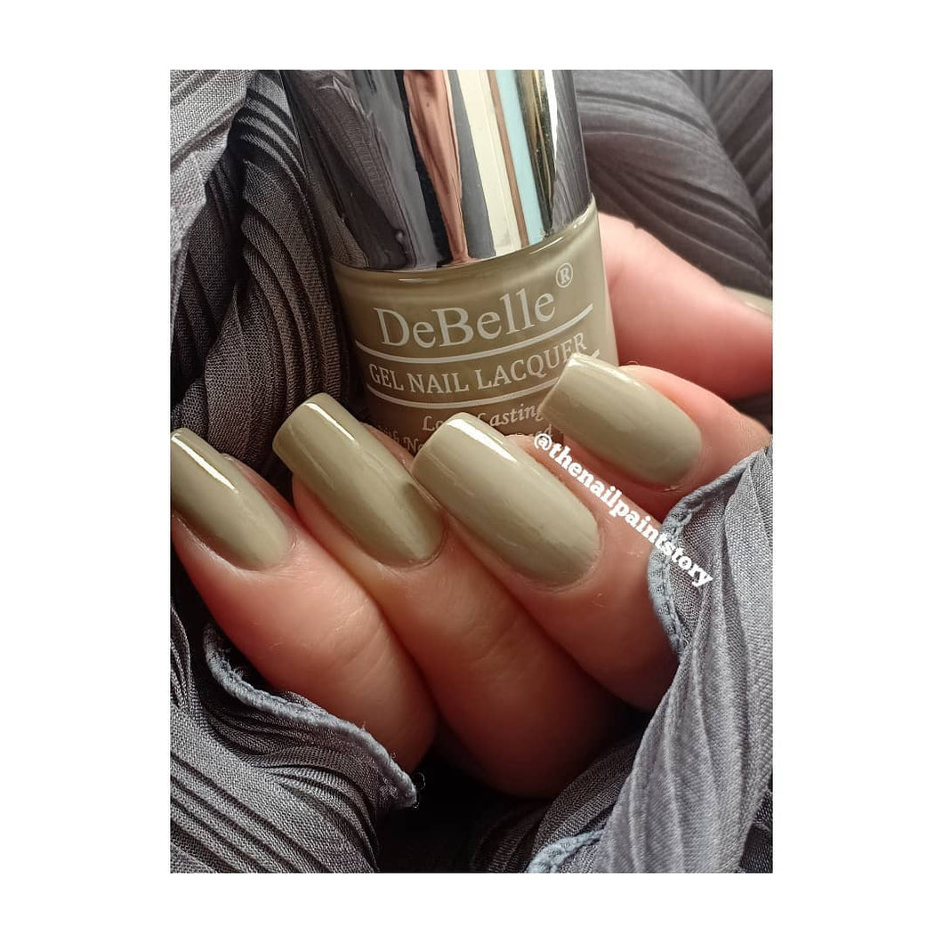 DeBelle Gel Nail Lacquer Moonstone Bloom - (Taupe Grey Nail Polish), 8ml