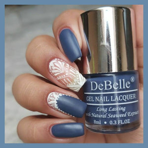 Navy blue nail art design inspiration