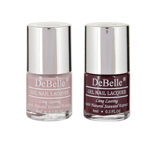 DeBelle Gel Nail Lacquer Vintage Frost & Glamorous Garnet 8 ml pack of 2 - Debelle shop