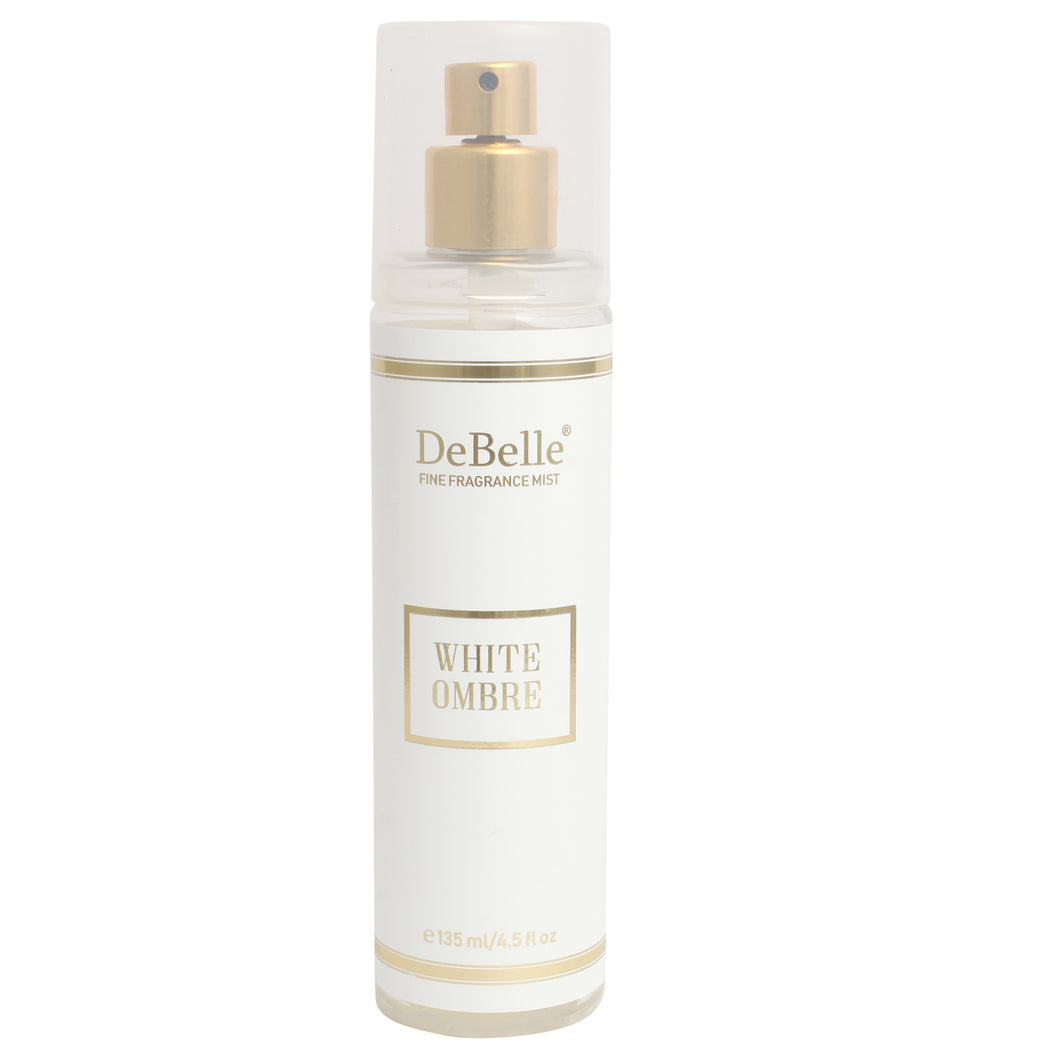 135 ml bottle of DeBelle Fine Fragrance Body Mist - White Ombre - Fruity Body Mist