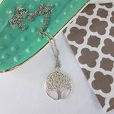 Tree of Knowledge Silver Pendant Necklace