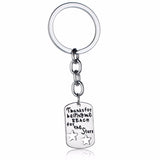 'Thanks for helping me reach for the stars' Stainless Steel Keyring