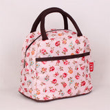 Pink Flower Lunch Bag