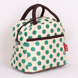 Green Polka Dot Lunch bag