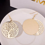 Tree of Life Disc Earrings