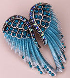 Crystal Encrusted Angel Wings Brooch - Thankyou for teaching me to fly Brooch