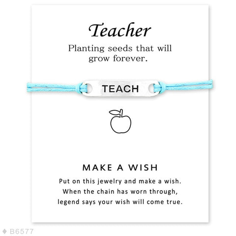 Make a Wish Teachers Charm Bracelet