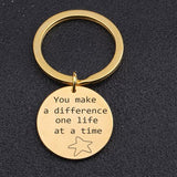 You Make a Difference Charm Key Chain