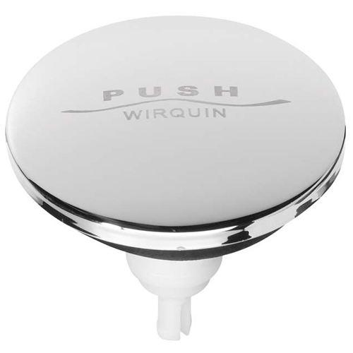 Wirquin Quick Clac Chrome Bath & Basin Click Waste Push Down Replacement Top SP9260 Wirquin Toilet Spares Wirquin