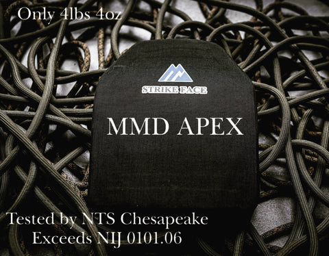 MMD Apex- Level 3+Single Curve Hard Armor Plates