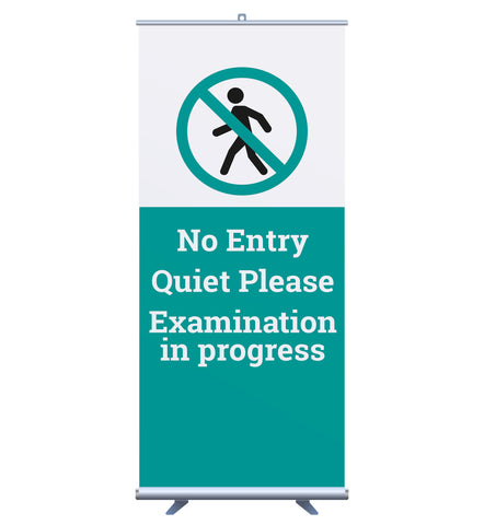 'Exam In Progress' Bannerstand