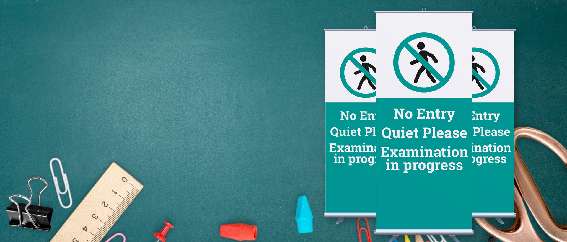 Get Prepared with Pop-up Exam Bannerstands
