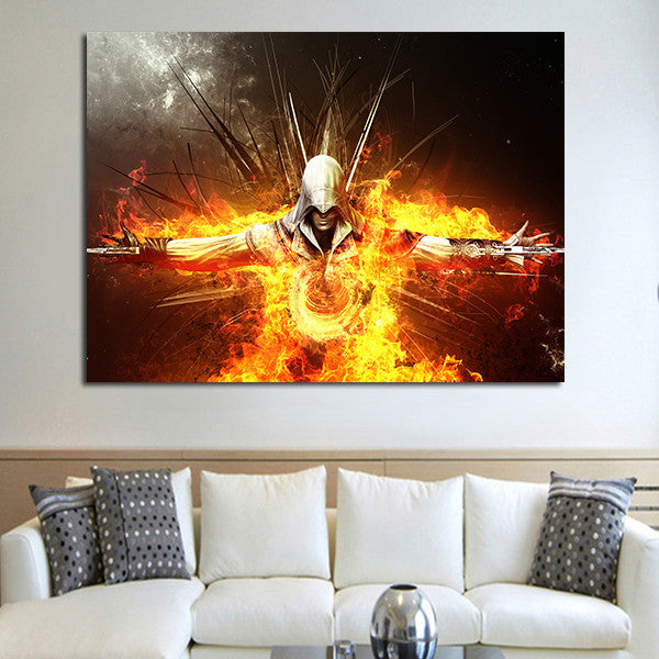1 Panel Ezio Auditore da Firenze Fire Wall Art Canvas