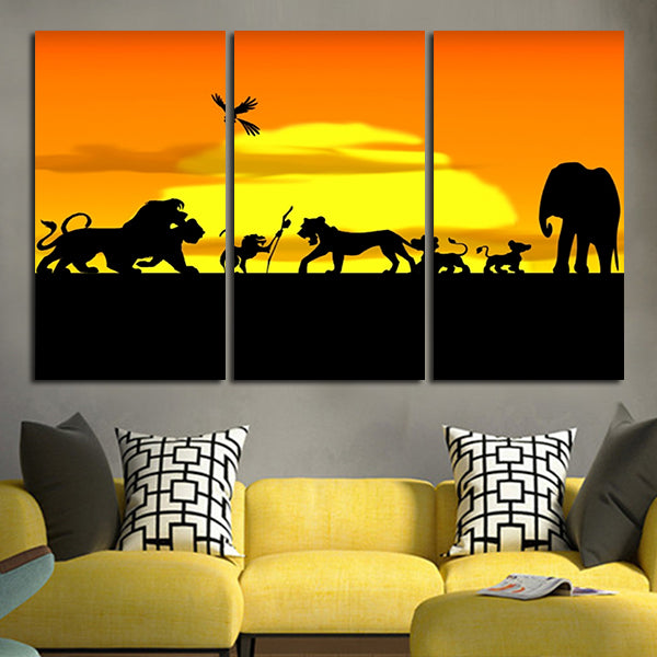 The Lion King 3 panel Wall Art Canvas – Tagged \
