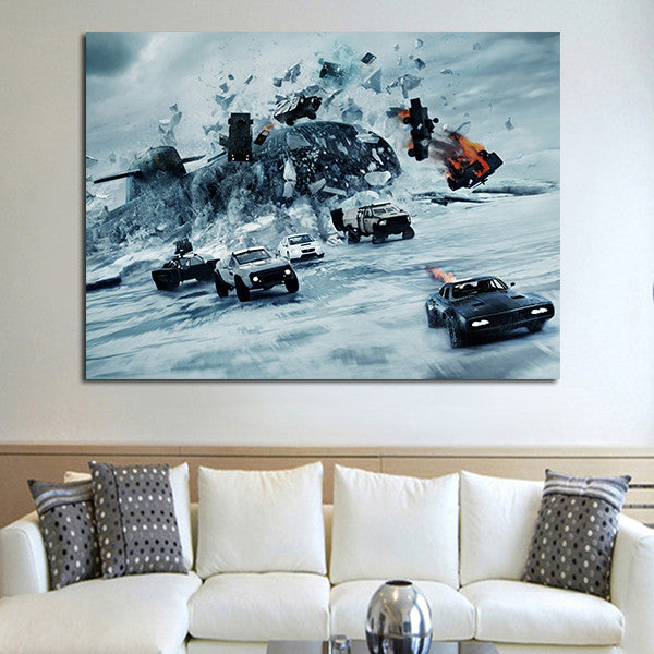 1 Panel Fast & Furious 8 Wall Art Canvas
