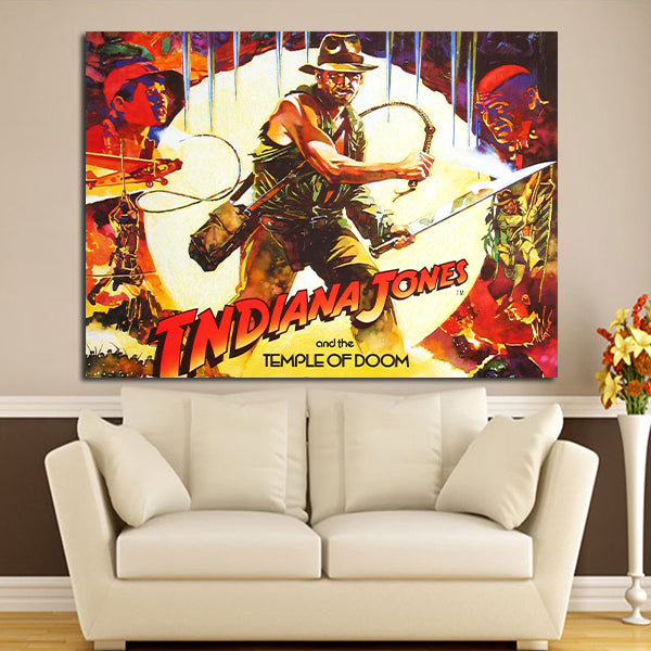 1 Panel Indiana Jones And The Temple Of Doom Wall Art Canvas