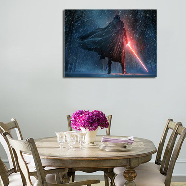 1 Panel Kylo Ren Turned His Back Wall Art Canvas