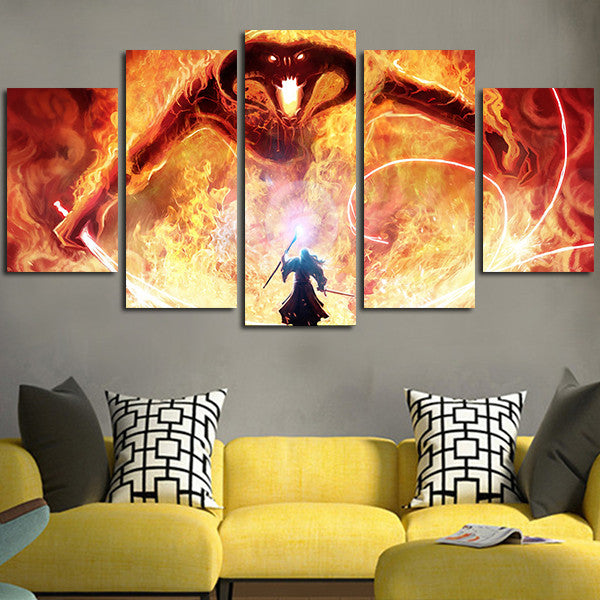 The Lord Of The Rings Balrog Wall Art Canvas