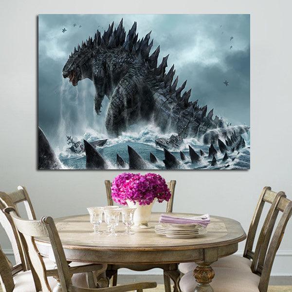 1 Panel Godzilla King Of Monsters Wall Art Canvas