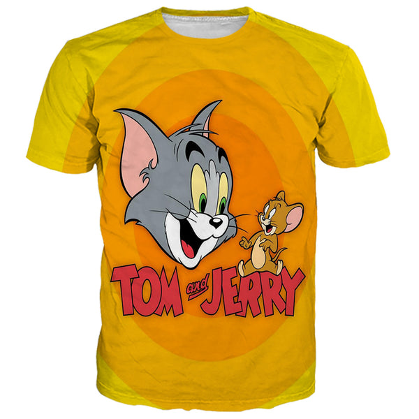 Tom And Jerry Logo Yellow Shirts