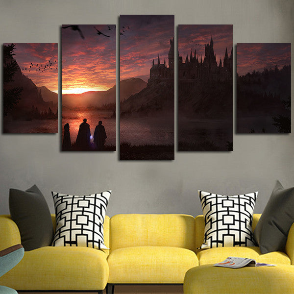 5 Panel Harry Potter And The Sorcerer's Stone Wall Art Canvas