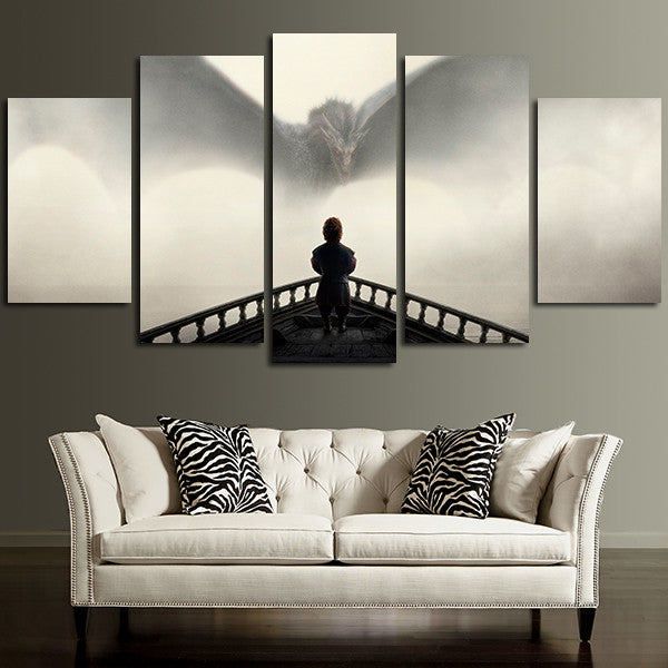 5 Panel Tyrion Lannister Wall Art Canvas