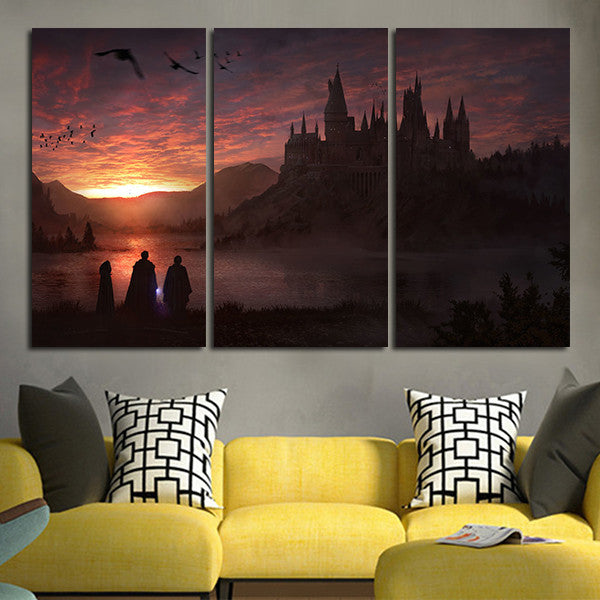 3 Panel Harry Potter And The Sorcerer's Stone Wall Art Canvas