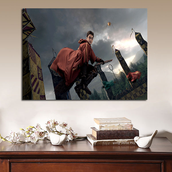 1 Panel Harry Potter Flying  Wall Art Canvas