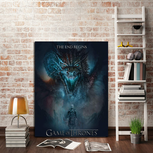 1 Panel Dragon And Night King Wall Art Canvas