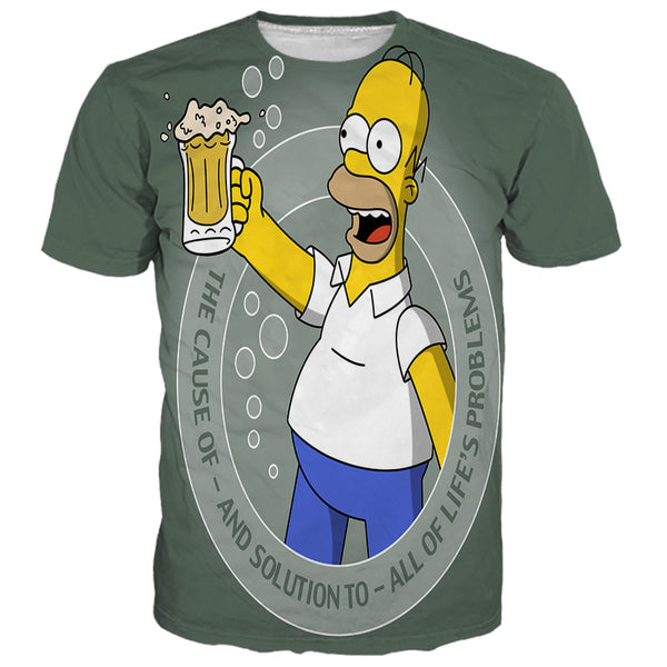 Homer Simpsons Drink Beer Shirts