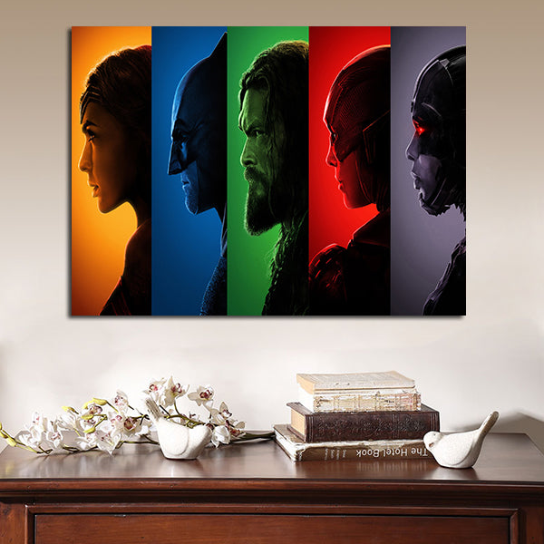 1 Panel Justice League 2017 Superheroes Wall Art Canvas