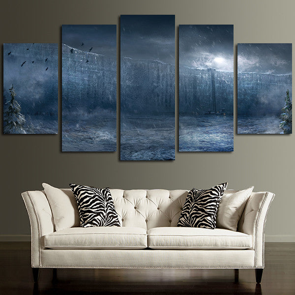 5 Panel Game Of Thrones Wall Art Canvas