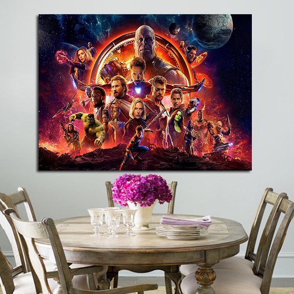 1 Panel Avengers Infinity War Infinity The Guardians Wall Art Canvas