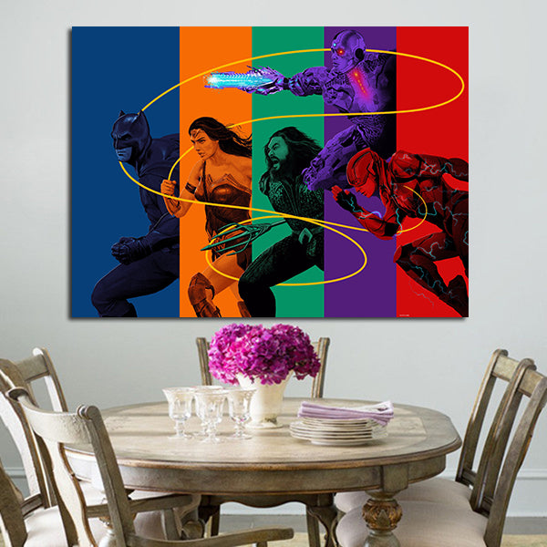 1 Panel Justice League Characters Wall Art Canvas