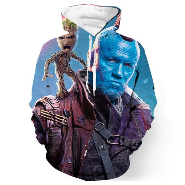 Groot And Yondu Udonta Printed Shirts