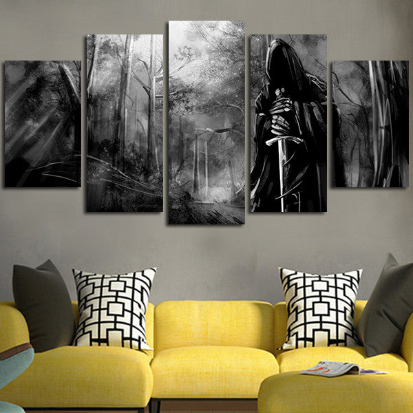 The Lord Of The Rings Dark Evil Sword Wall Art Canvas