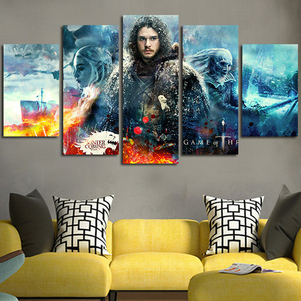 Game of Thrones Jon Snow Wall Art Canvas