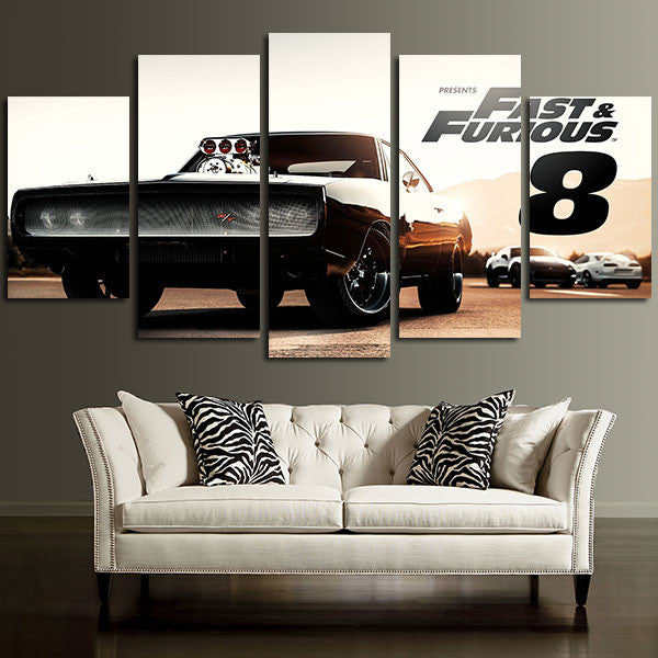 Fast & Furious 8 Car Wall Art Canvas