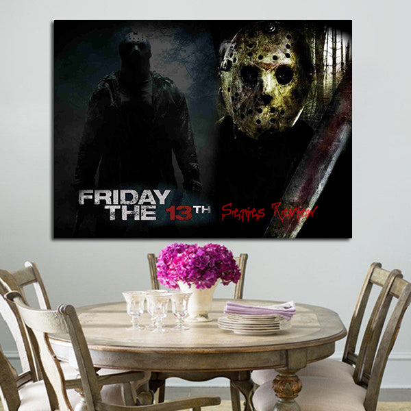 1 Panel Friday The 13th Jason Voorhees Wall Art Canvas