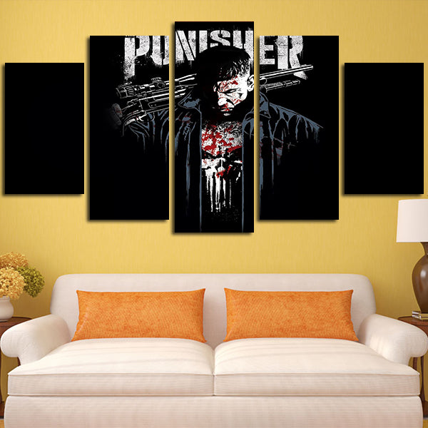 5 Panel Frank Castle Comics Icon 2017 Wall Art Canvas – Super Hacks