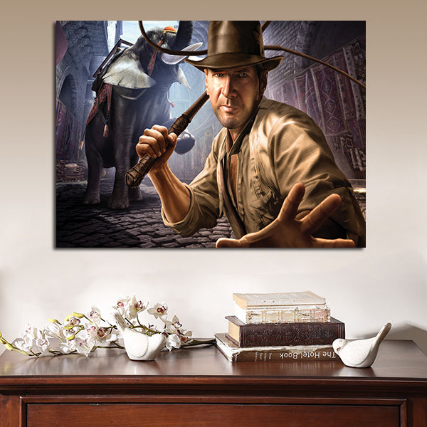 1 Panel Indiana Jones And The Staff Of Kings Wall Art Canvas