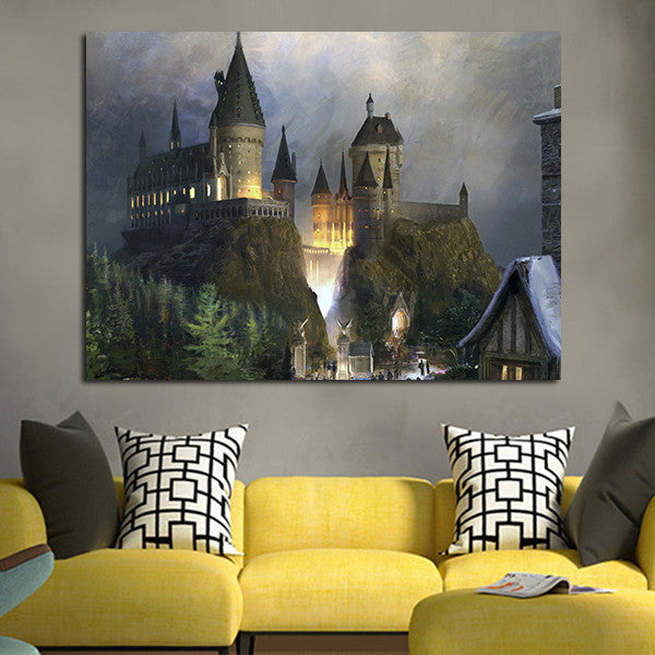1 Panel Hogwarts Castle Wall Art Canvas
