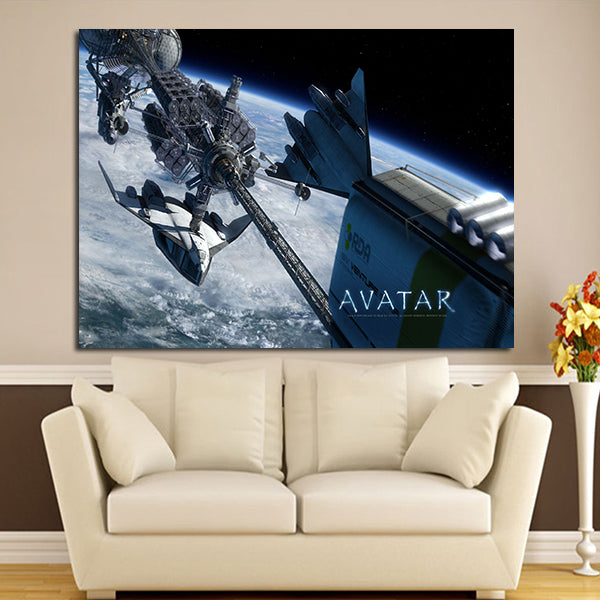 1 Panel Avatar Space Ships Wall Art Canvas